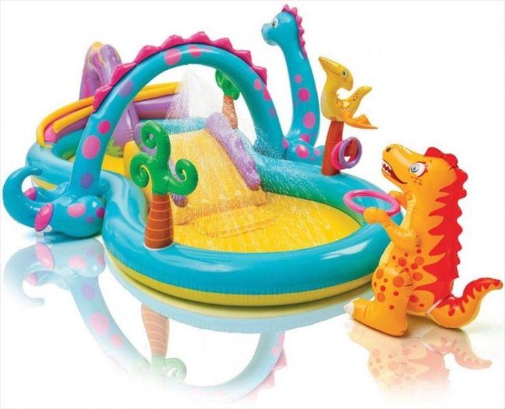 Intex zwembad speelcentrum 'Dinoland'  Uw kinderen kunnen genieten van de zon in de eigen achtertuin. Met dit zwembad speelcentrum 'Dinoland kan dit heel goed. Dit speelcentrum is uitermate geschikt voor de kleine kinderen. Er zal geen verveling zijn met dit multifunctionele zwembad in uw tuin. Dit zwembad is helemaal compleet met glijbaan hongerige dino en een palmboom waterval. Uw kind heeft gegarandeerd een zomer lang plezier en waterpret.  EUR 46.95  Meer informatie