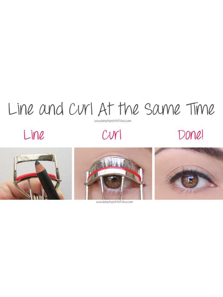 1. Eyeliner wimperkruller truc