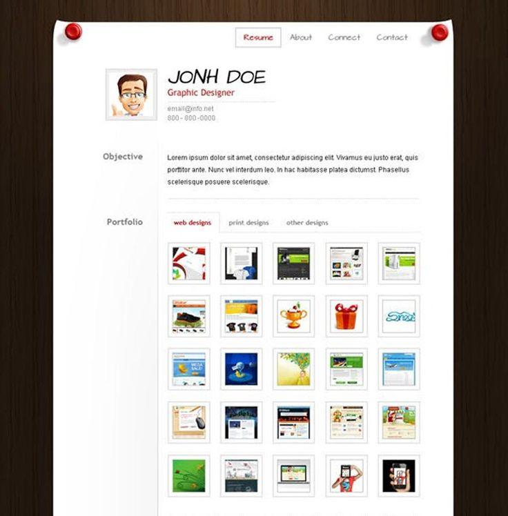 39 best Photoshop Resume Templates images on Pinterest Resume - really free resume templates