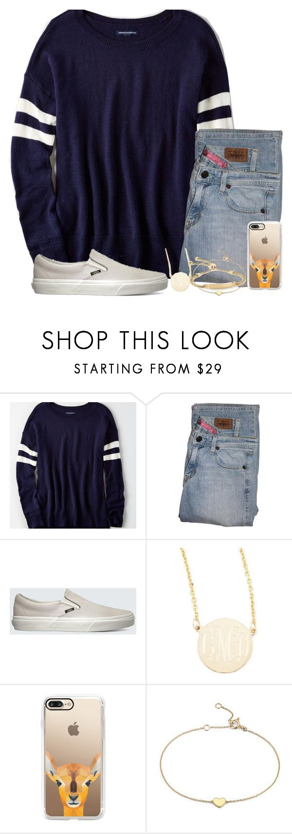 """""""oh deer"""" by legitimately-kierstin ❤ liked on Polyvore featuring American Eagle Outfitters, Levi's, Vans, Sarah Chloe, Casetify, Blue Nile and Monica Vinader"""