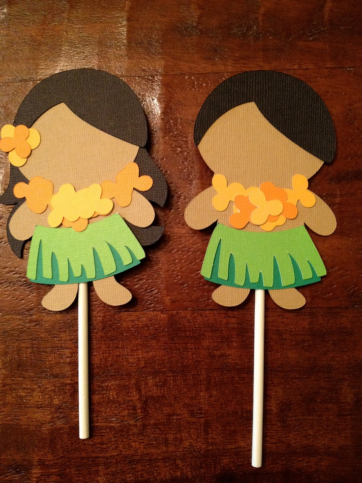 Luau Hawaiian Cupcake Toppers - Birthday Party, Shower, Invitations, Celebrations. $5.00, via Etsy.