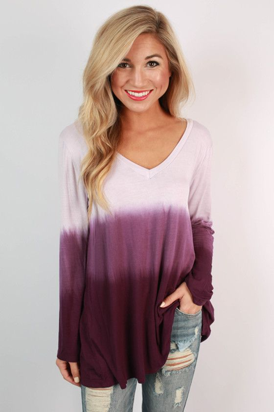 Boost Your Bliss Ombre Top in Purple