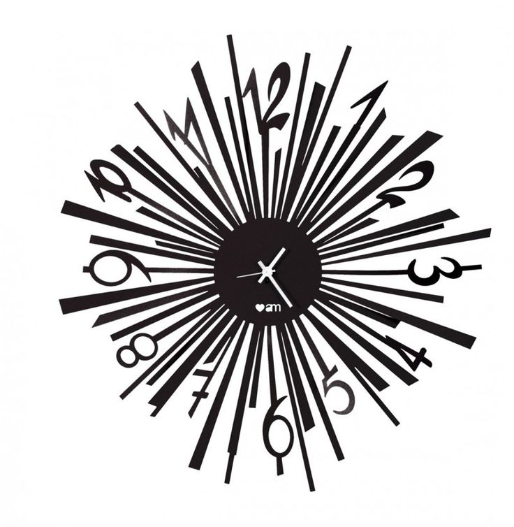 Zegar ścienny LOVE EXPLOIT Czarny - Arti&Mestieri - DECO Salon #clock #wallclock #giftidea