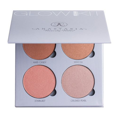 ABH Glow Kit Powder Highlighter GLEAM Palette Face Bronzer Face Blusher Makeup set in Box SIZE: 4*7.4g/0.26oz-each SHADES TO CHOOSE FROM: GLEAM: Hard Candy, Mimosa, Starburst, Crushed Pearl Gleam Kit: