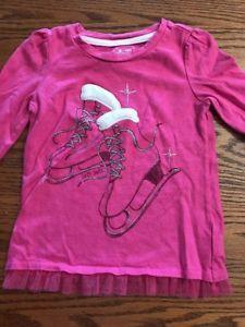 Baby Gap Toddler Girls Size 2T Long Sleeve, Pink Ice Skates Shirt    eBay