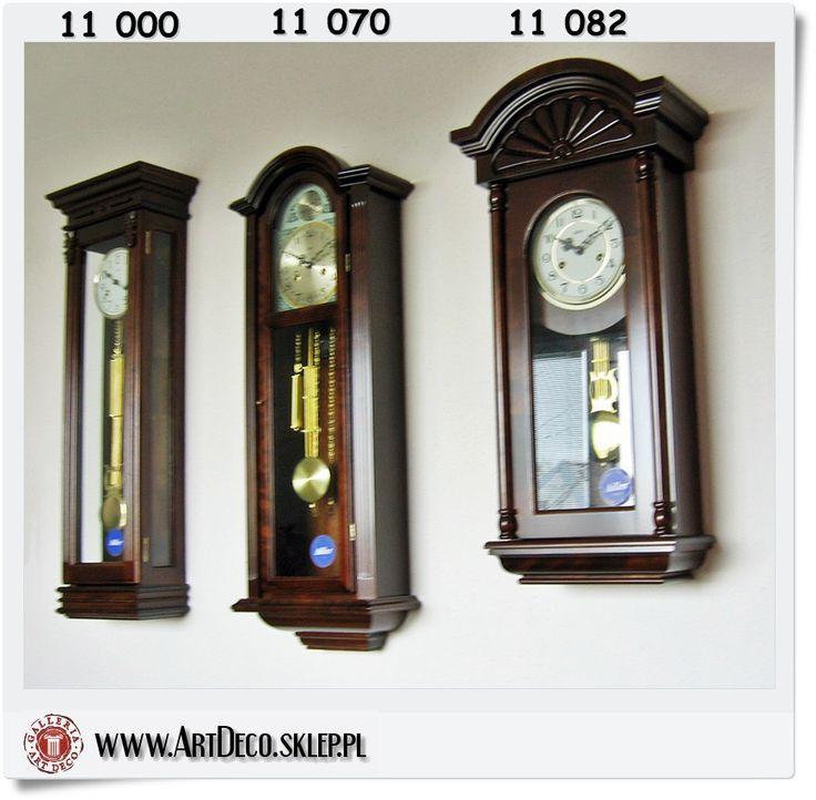 Zegary mechaniczne Adler wiszące, szafkowe
