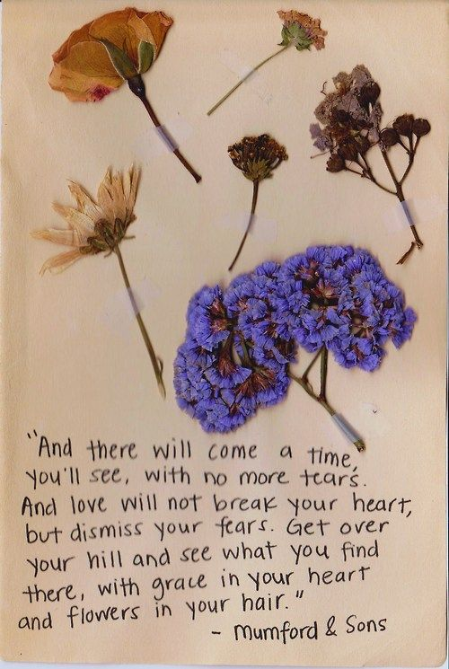 with flowers in your hair... coming down the isle. AH! beautiful --mumford & sons