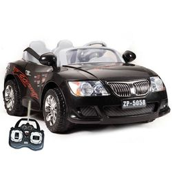 black 2 seater 12v kids street racing ride on car electric