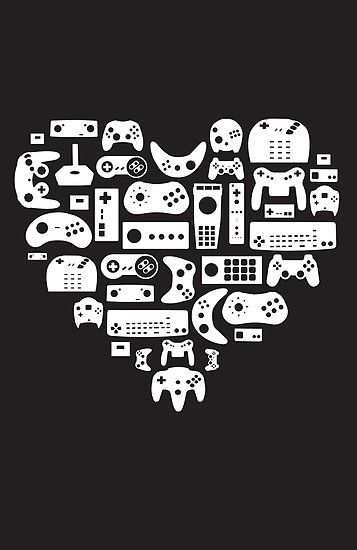 Controller Lover (White on Black) by pinksage