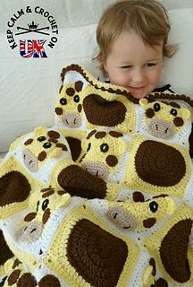 Spot the Giraffe Blanket Crochet Pattern from Keep Calm and Crochet On UK