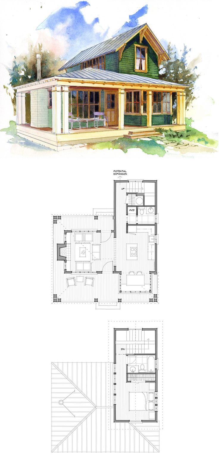 780 sf house plans pinterest tiny houses house and for Rv cottage plans