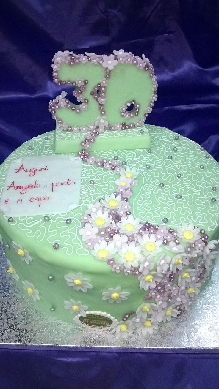 cake flower fiori 30 th