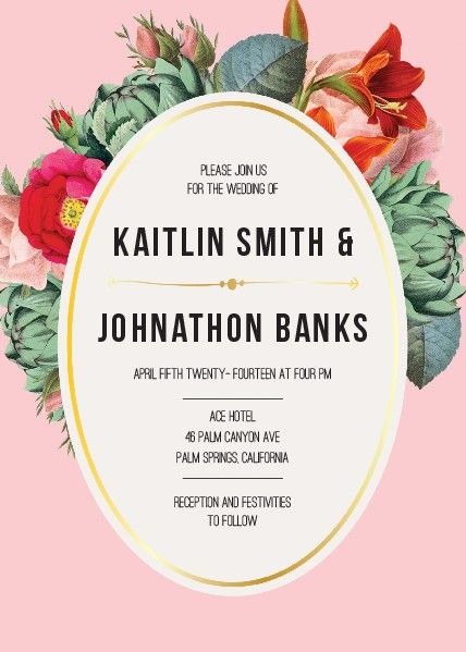 Gorgeous floral wedding invitation!