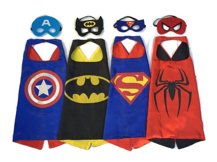 AmazonSmile: Superhero Dress Up Costumes - 4 Satin Capes and 4 Felt Masks: SO NOAH!