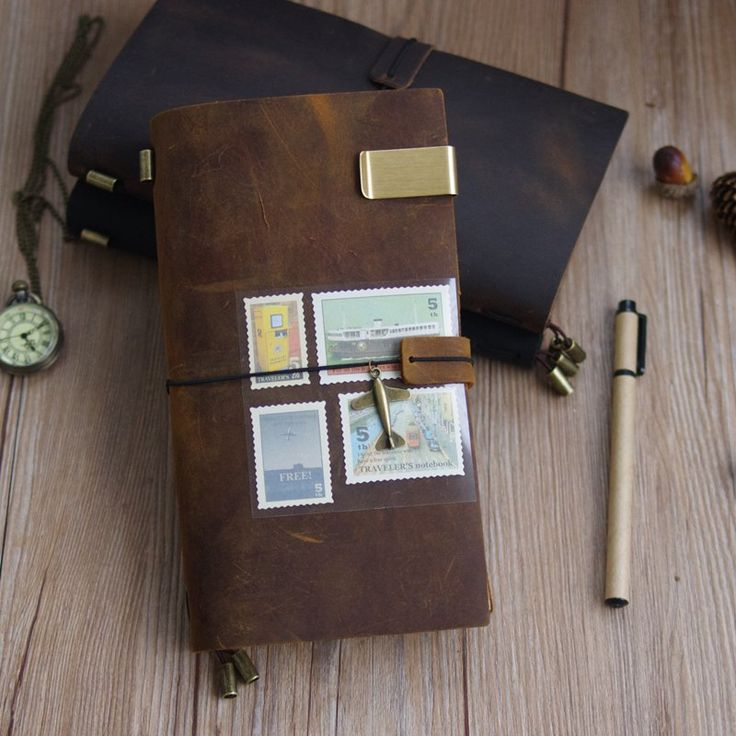Find More Notebooks Information about 100% Genuine Leather Traveler's Notebook Diary Journal Vintage Handmade Cowhide gift travel notebook BUY 1 Get 5 Accessories,High Quality notepad pen,China notepad service Suppliers, Cheap notepad set from Alice's Sweet Castle on Aliexpress.com