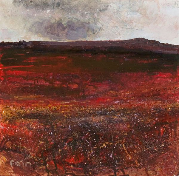 Kurt Jackson: Carn Galva bracken, Cornish mountains October 2012 Campden Gallery, fine art, Chipping Campden, camden gallery, contemporary, ...