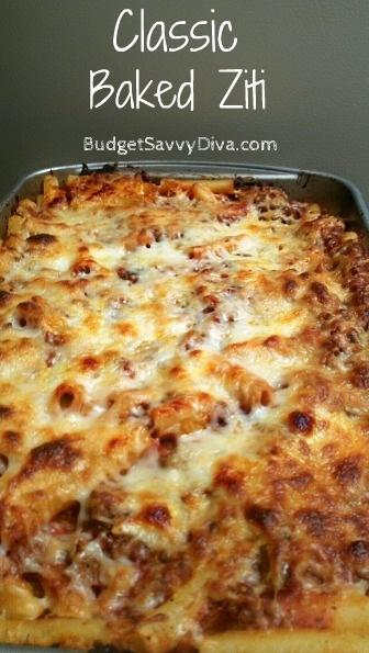recipe #recipes #dinner #food: Easy Baked Dinner, What Baked Recipes, Italian Food, Classic Baked, Bakedziti, Comfort Food