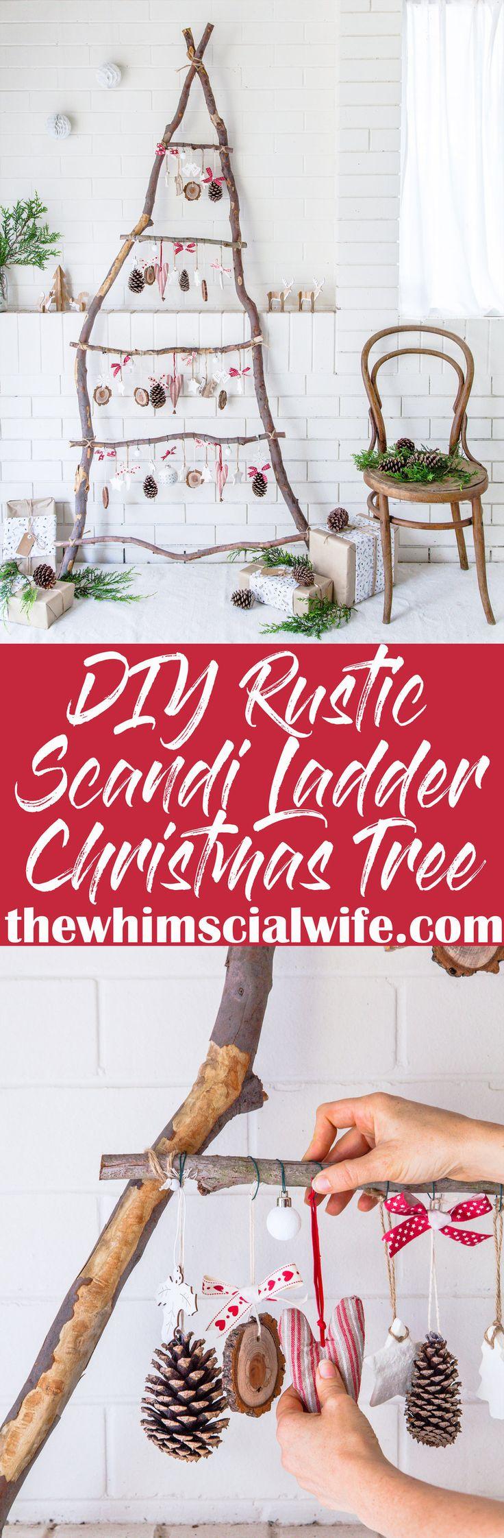 Rustic Scandinavian Ladder Christmas Tree