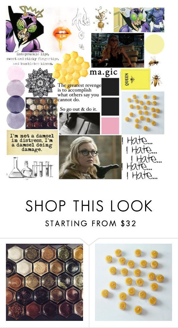 """Bug-Eyed Bandit// Brie Larvan"" by lilrawr ❤ liked on Polyvore featuring Queen Bee"
