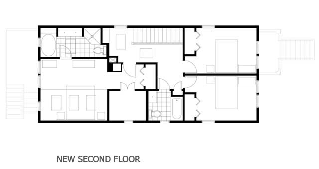 Second story addition floor plan new homes pinterest for Second floor addition floor plans