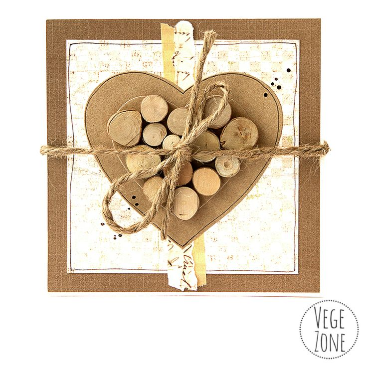 Handmade card, eco style! http://vegezone.pl/49-kartki