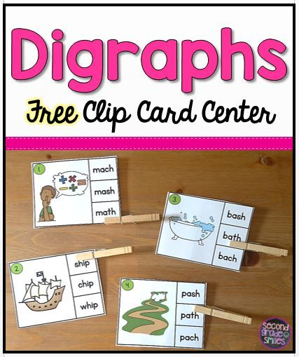 If your students need practice identifying digraphs, this free clip card activity will make a great literacy center, word work center, or early finisher activity. It includes 16 clip cards focusing on digraphs sh, th, ch, and wh. My second graders have so much fun with these and they are self-checking!