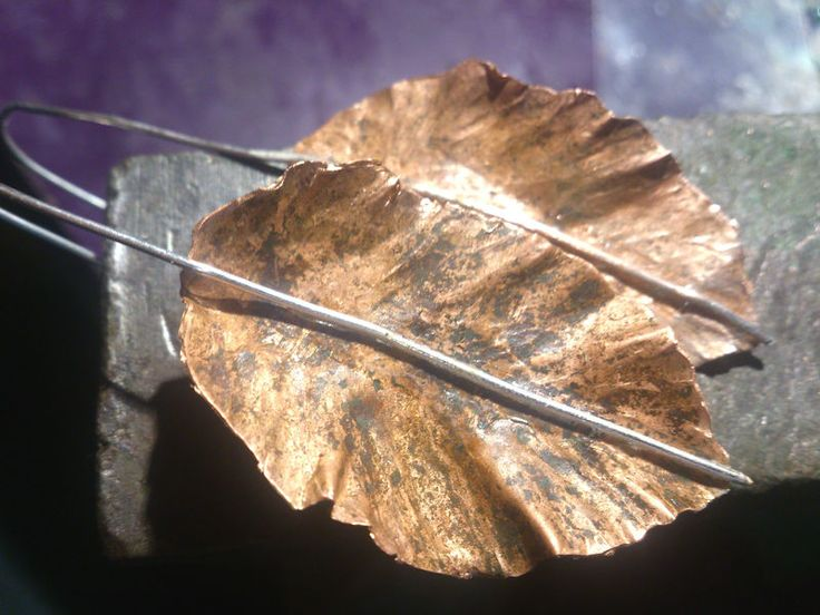 Kolczyki liście - zku - Kolczyki długie