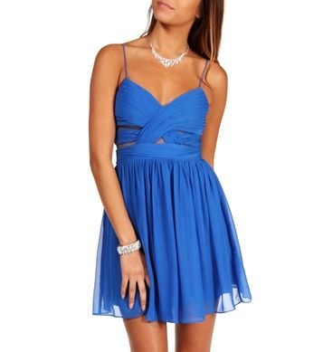 Elly- Bright Blue Short Homecoming Dress