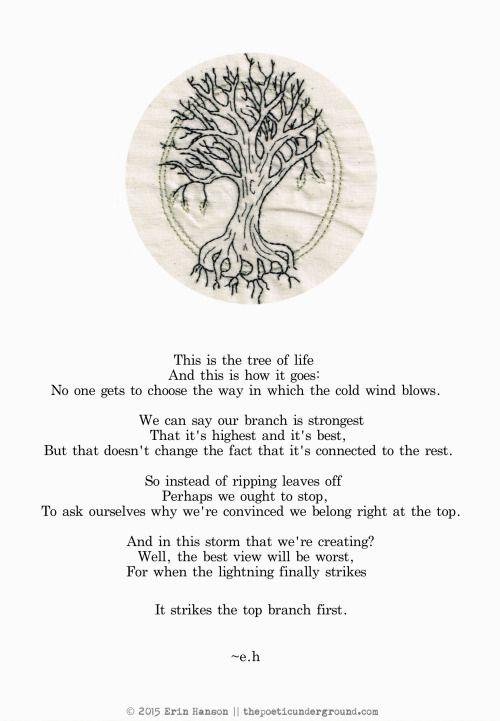 Tree of Life thepoeticunderground.com #poem #poetry #earthday