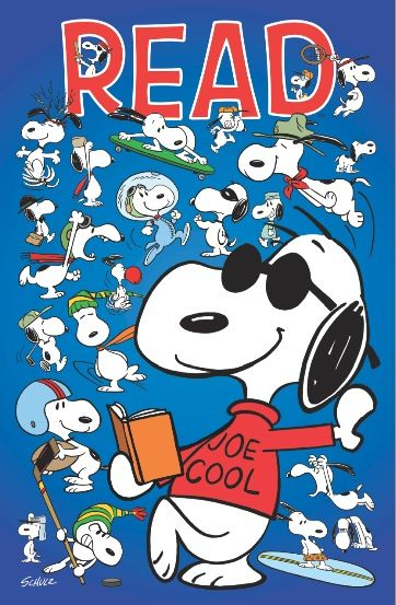 Snoopy + Reading