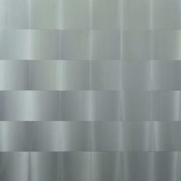 'Surface with Vibrating Texture' (1964) by Italian artist Getulio Alviani (b.1939). Brushed aluminum on composition board, 33 x 32.75 in. via MoMA