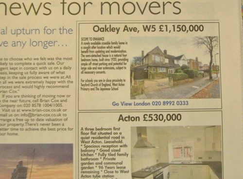 Our Property section In this week's local Ealing Gazette features Oakley Avenue, W5