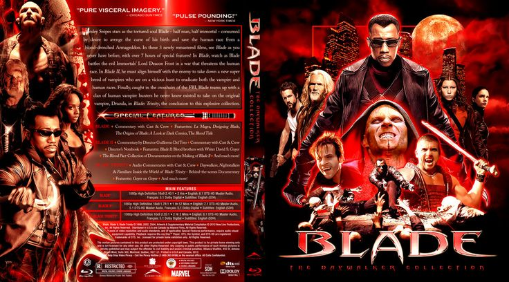 Blade Collection Custom Blu-ray Cover