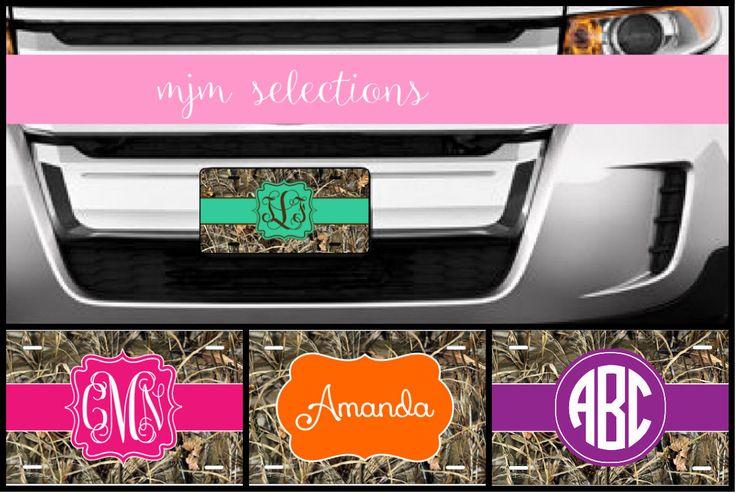 Camo License Plate, Monogram License Plate, Personalized License Plate, Monogram Car Tags, Monogram Car Accessories, Camo Car Accessories by MJMSelections on Etsy https://www.etsy.com/listing/270592703/camo-license-plate-monogram-license