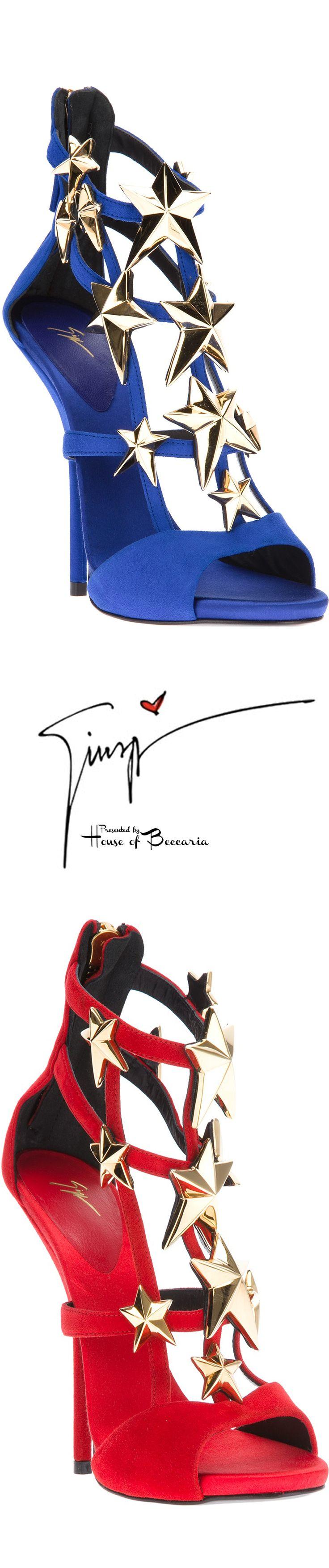 ~Giuseppe Zanotti 2013 Star Suede Stiletto Sandal | House of Beccaria#
