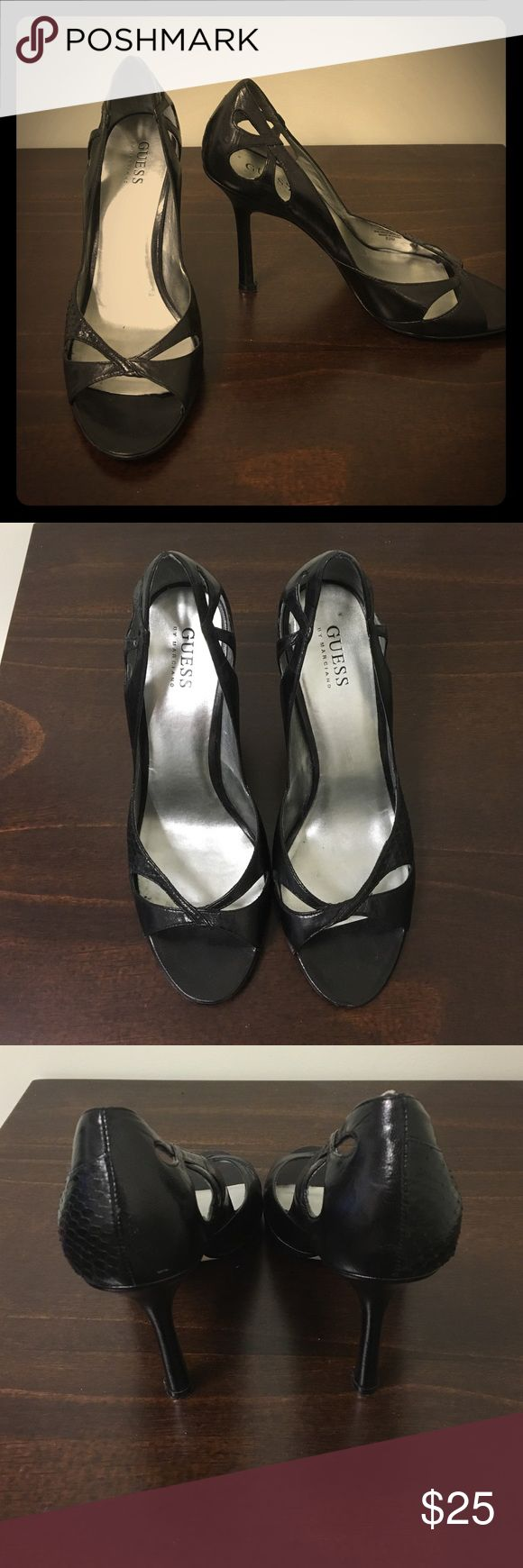 "GUESS by Marciano black dressy sandal heels Used but in good condition. Approx 4"" heel. Guess by Marciano Shoes Heels"