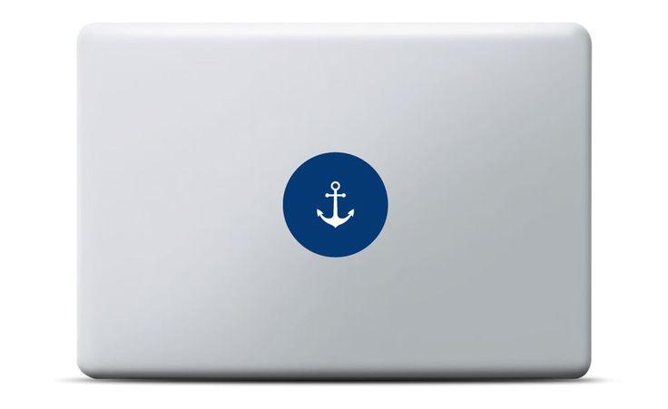 Anker MacBook Sticker mit Leuchteffekt. #aufkleber #matrosen #blau #macbookpro #macbookair #simpledesign
