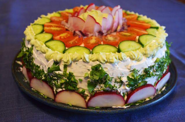 Vegan Smörgåstårta (Swedish Sandwich Cake) I will try to make this for christmas for the vegan sis!
