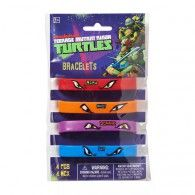 Teenage Mutant Ninja Turtles Rubber Bracelets Pkt4 $12.95 A398004