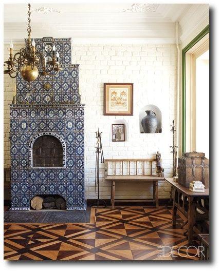 Russian tile stove.