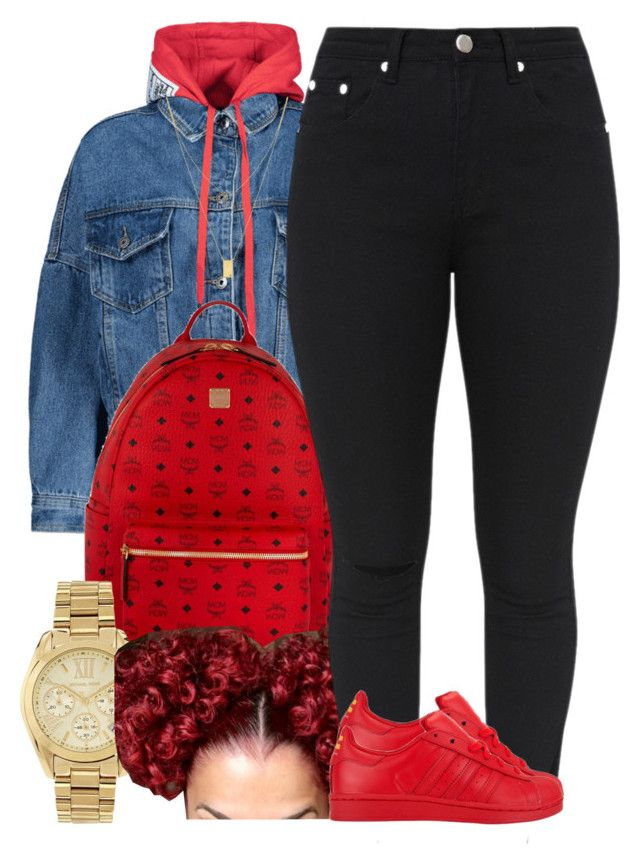 """""""Untitled #1069"""" by trinsowavy ❤ liked on Polyvore featuring MCM, Michael Kors, GET LOST, adidas and Botkier"""