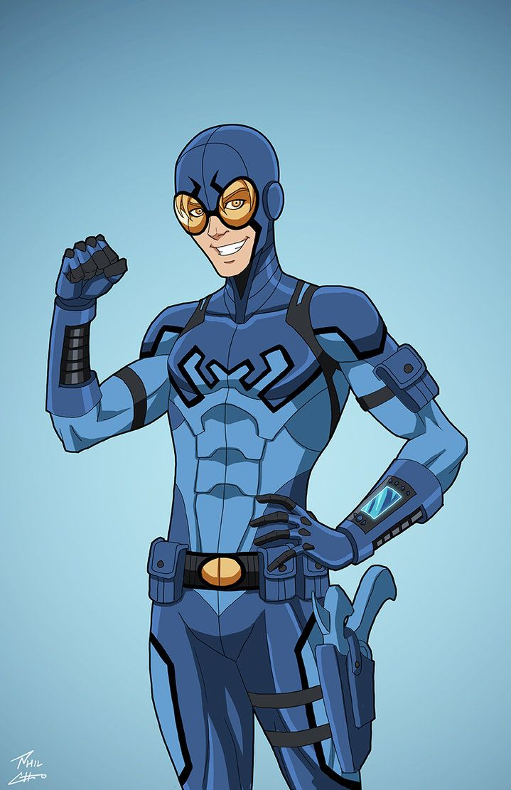 Blue Beetle [teen] (Earth-27) commission by phil-cho.deviantart.com on @DeviantArt
