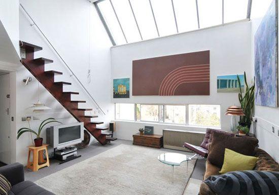 A 60s duplex apartment in NW London.: Dreams Houses, Cliff Roads, Small Apartment, Architects Design, Roads Studios, 60S Duplex, Floors Studios, Modern Houses, Duplex Apartment