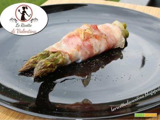 Involtini di asparagi, mazzancolle e pancetta  #ricette #food #recipes