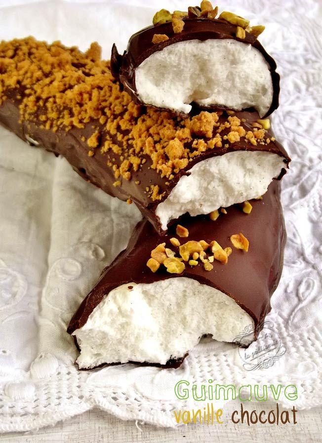 Guimauve vanille enrobée de chocolat