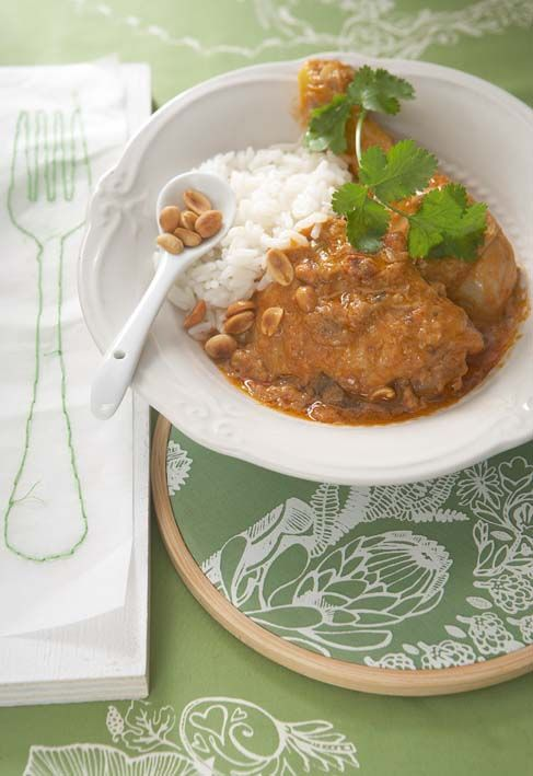 Chicken and peanut curry