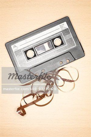 Stock photo of Unspooled Cassette Tape; Premium Royalty-Free, 600-03230420 © Red Rocket Stock / Masterfile. All rights reserved.