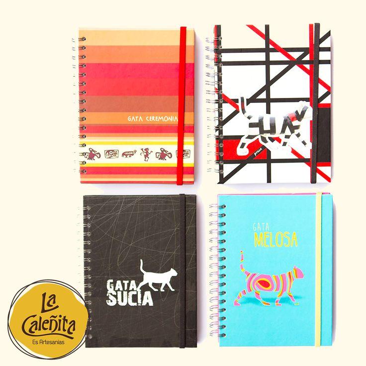 Un regalito para llevar de Cali, nuestros lindos cuadernos de Las Gatas del Río. 🐯😍💖 #ArtesaniasLaCaleñita #Artesanias #ArtesaniasTipicasDeColombia