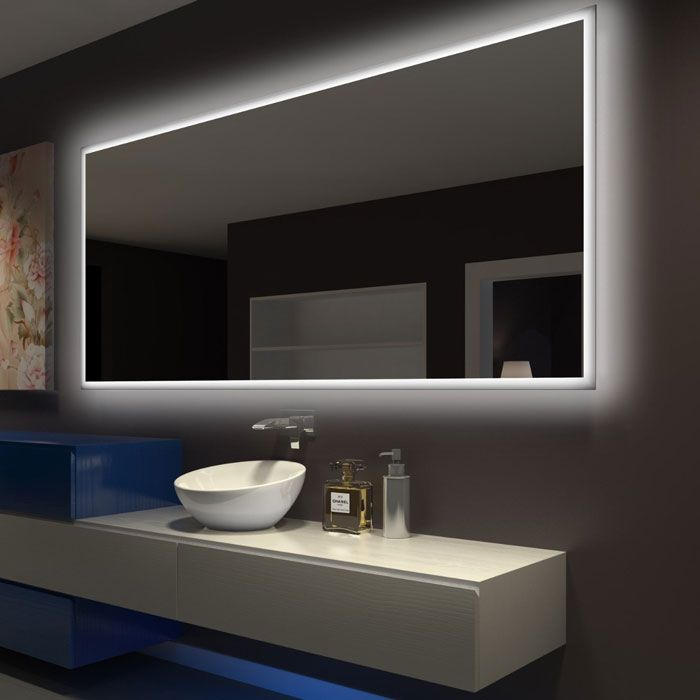 Led Illuminated Bathroom Mirror Rectangle Backlight Wall Paris With Lights 72 36 60 X 30 27 4 Sided Backlit Mirror Backlit Bathroom Mirror Led Mirror Bathroom