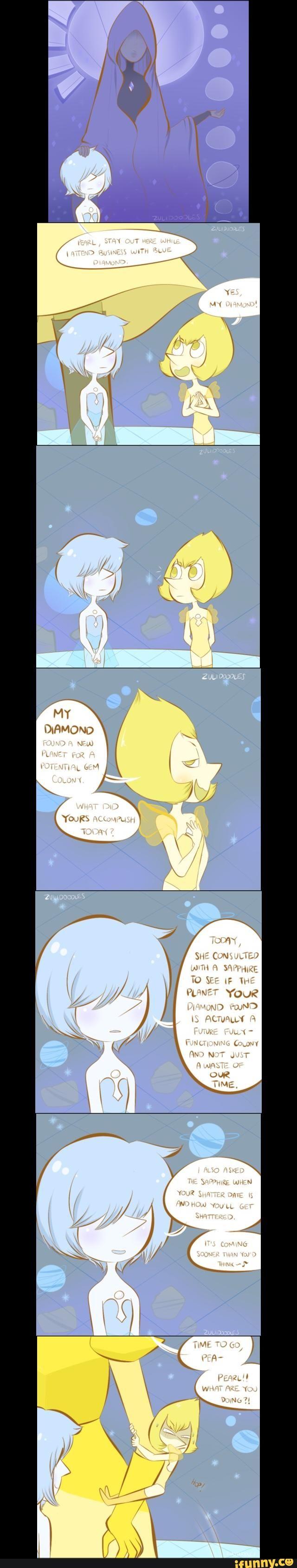 pearls blue yellow diamond diamonds pearl steven universe cartoon network theory hc headcanons cute cool awesome kawaii funny humour humor art fanart tumblr pinterest headcanon